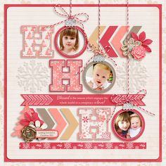 #papercraft #christmas #scrapbook #layout     Mrs Frost by Kristin Cronin-Barrow and Libby Pritchett Christmas Single 5 template by Cindy Schneider