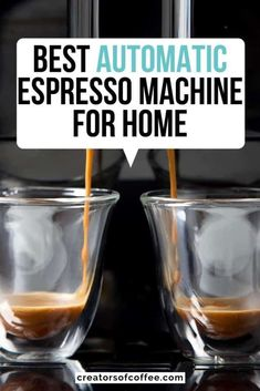 Best Automatic Espresso Machine For Home: 2019 Guide Cappuccino Maker, Cappuccino Machine, Espresso Maker, Espresso Drinks, Coffee Drinks, Automatic Espresso Machine, Best Espresso Machine, Percolator Coffee Maker, Tips