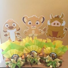 Baby Lion King inspired Centerpiece Simba Pumba by SOUTHFLOWER