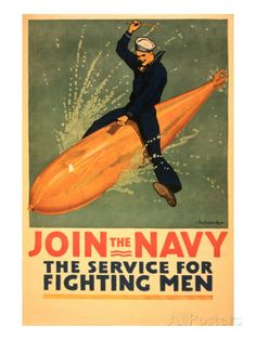 Sailor Riding Torpedo, Navy Poster Posters sur AllPosters.fr