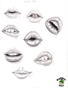 Delineate Your Lips Résultat de recherche dimages pour dessin - How to draw lips correctly? The first thing to keep in mind is the shape of your lips: if they are thin or thick and if you have the M (or heart) pronounced or barely suggested. Mouth Drawing, Nose Drawing, Drawing Faces, Drawing People Faces, Side Face Drawing, Smile Drawing, Makeup Drawing, Drawing Techniques, Drawing Tips