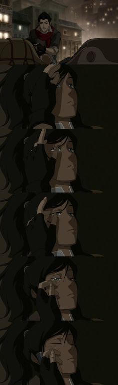 "Romantic! Mako to Korra: ""You're safe now..."" Legend of Korra #legendofkorra"