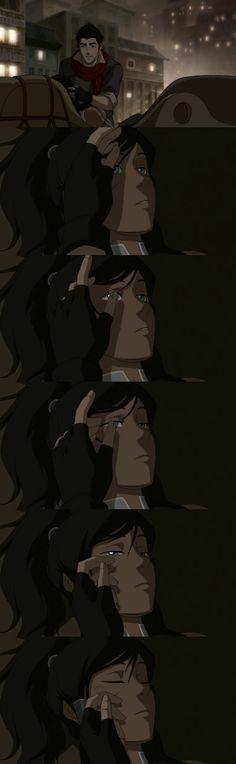 "Romantic! Mako to Korra: ""You're safe now..."" Legend of Korra #legendofkorra"