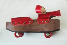 Vintage roller-skate sandals - I had these in the mid-1970s! The wheels retracted into the thick sole of the shoe.