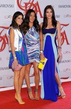 Leandra Medine, Rebecca Minkoff, and Hilary Rhoda at the #CFDA Awards