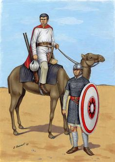 roman camel patrol and late roman legionary