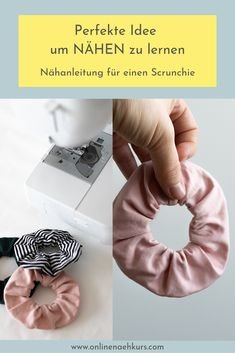 Lerne ENDLICH nähen – damit klappt es Easy Sewing for Beginners – Scrunchie Sewing explained step-by-step. Sewing from fabric scraps, Sewing Zero Waste, Sewing Ideas [. Beginner Sewing Patterns, Easy Sewing Projects, Sewing Basics, Sewing For Beginners, Free Sewing, Fabric Remnants, Fabric Scraps, Sewing Courses, Diy Accessoires