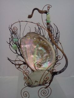 Magical miniature mermaid throne chair seat by FaeryMysterium
