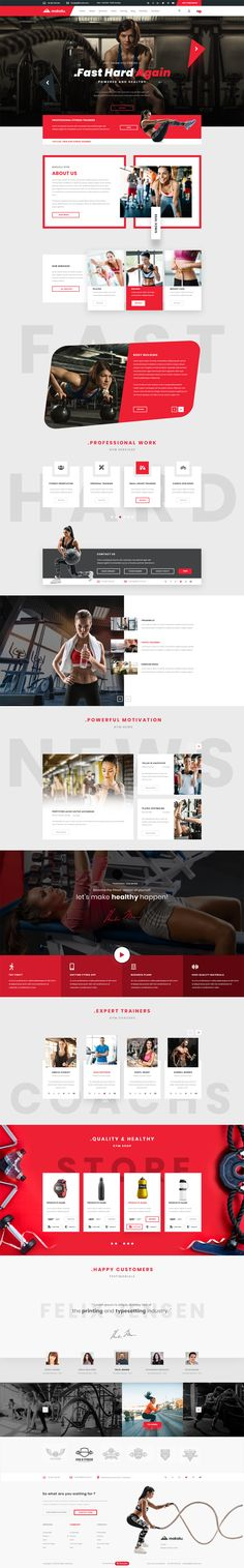 Buy Makalu - Multi-Purpose PSD Template by Theme_Flex on ThemeForest. Have a look at files in this category 01 – Homepage – Creative Agency Portfolio 02 – About Me – Creative Agency Port. Squeeze Page, Mise En Page Web, Gyms Near Me, Sports Graphics, Website Design Inspiration, Site Internet, Web Layout, Best Web, Software Development