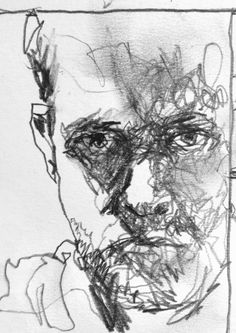 Self portrait No. 6 Pencil on A7 drawing paper.