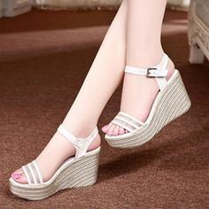 Shoespie launched some new arrival fashion shoes and dresses on including the latest styles heels, boots, sandals and bodycon dresses with good quality. Pretty Shoes, Cute Shoes, Blush Shoes, Comfortable Work Shoes, Beautiful Sandals, Fashion Sandals, Girls Shoes, Wedge Sandals, Platform Wedge