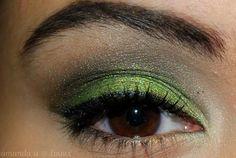 love green shadow on brown eyes