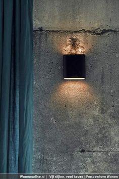 Beton van behang Een betonnen muur is toch wel het ultieme voorbeeld van de industriële stijl. http://www.wonenonline.nl/interieur/12/vloer-wandbekleding-2012.html