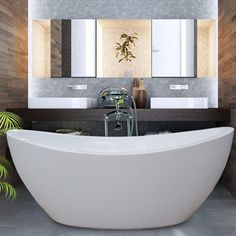 PureScape 170 stand alone tub with free standing or wall mounted faucet. Simple, clean and elegant.