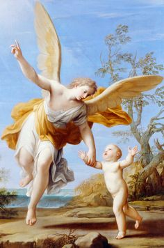 The Guardian Angel (detail), Marcantonio Franceschini, 1716