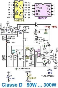 DIY 500W Class-D TL494 Switching Amplifier | Pinterest | Circuit diagram