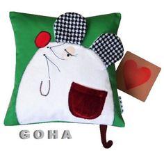 szczęśliwa myszka (proj. GOHA), do kupienia w DecoBazaar.com