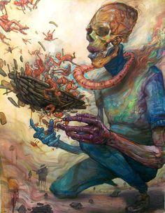Fantastic Voyage painting by Ekundayo