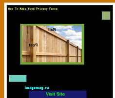 How To Make Wood Privacy Fence 165431 - The Best Image Search