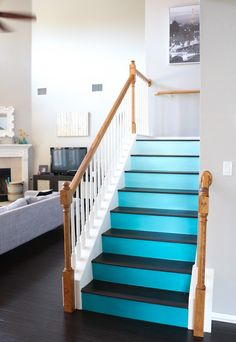 Schon A Kailo Chic Life: Paint It   Ombre Stairs
