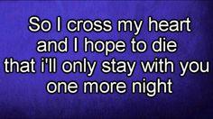 Maroon 5 - One More Night (Lyrics)