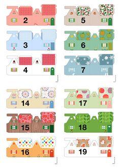 Miniature houses, advent calendar ©del4yo delphine Doreau | ADVENT ...