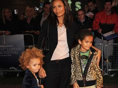 look at how cute Thandie Newton's kids are.