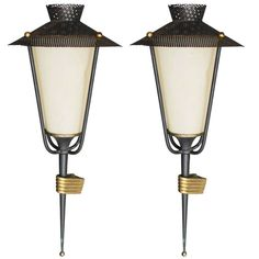Pair of French Sconces by Maison Arlus   From a unique collection of antique and modern wall lights and sconces at https://www.1stdibs.com/furniture/lighting/sconces-wall-lights/