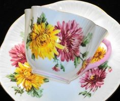 Shelley Dainty -Chrysanthemum simplyTclub Tea cup and saucer