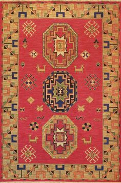 Tibet Rug Company Soumak Kazak Design 4 Area Rug     If I pin this twice, must mean I really like it. Question is, can I live with it.