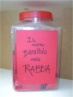 barattolo_rabbia Educational Activities, Learning Activities, Activities For Kids, Crafts For Kids, Baby Games, Games For Kids, School Life, Back To School, Social Service Jobs