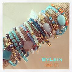Summer Collection 2015 ByLein Jewelry Blue Ibiza style - mix&match - sieraden - boho - gypsy
