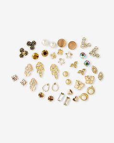 20 pack blush stud earring set
