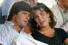 Princess Caroline of Monaco and Roberto Rossellini, Ingrid Bergman's son.