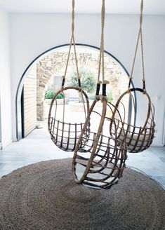 Hanging chairs #homedecor #interiordesign