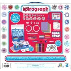 The Original Spirograph Art Studio is the ultimate spiro-art design set, featuring tons of artists' supplies as well as all of the iconic wheels and rings of the original Spirograph, re-engineered and Original Spirograph, Book Design, Design Art, Principles Of Art, Self Inking Stamps, Craft Kits, Colored Pencils, Arts And Crafts, Party