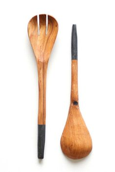 Beautifully functional, this handmade utensil set was crafted from locally sourced olive wood then accented with a pop of color. Serve up any meal in style, whether you are entertaining or just enjoyi