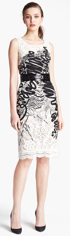 fashion white with black women dress
