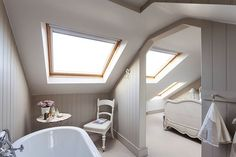 6 Timely Tips AND Tricks: Attic Access The Loft attic conversion master suite.Attic Wood Built Ins attic bar wine cellar. Attic Bathroom, Attic Rooms, Attic Spaces, Attic Playroom, Loft Ensuite, Garage Attic, Attic Office, Attic Apartment, Apartment Therapy