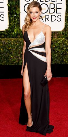 Golden Globes 2015: Red Carpet Arrivals - Katie Cassidy from #InStyle
