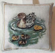 Duck Gift / Duck Fabric Lavender Bag / DUCK and Chicks Gift - Handmade