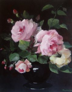 Rose painting. Pretty.