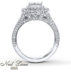 THIS IS THE ONE Side view of the Neil Lane engagement ring that
