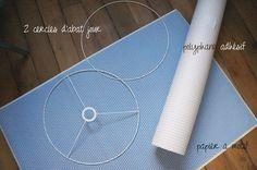 Comment faire un joli abat-jour avec du papier japonnais Diy Abat Jour, Deco Luminaire, Baby Room Neutral, Origami, Lights, Creative, Crafts, Inspiration, Design