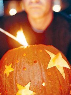 Create a starry, not scary, pumpkin.