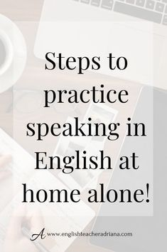 How to Practice English Speaking Alone at Home? Improve your English Speaking skills alone at home with these easy tips. Click the link below to watch the full video lesson Improve English Speaking, Learn English Grammar, English Vocabulary Words, Learn English Words, English Phrases, English Language Learning, Improve Your English, English At Home, English Tips