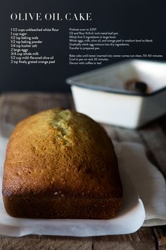 Olive Oil Cake. See if its similar to Zingerman's -- if so, eat and enjoy for the rest of time.