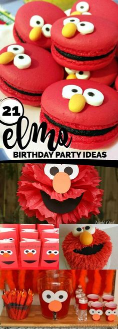 These Elmo themed birthday party ideas would be perfect for any toddler! Want to inspire sweet laughter at your child's next birthday party? Elmo is a beloved Sesame Street character, making him the Elmo First Birthday, Boy Birthday Parties, Birthday Party Invitations, Boys Birthday Party Themes, Slumber Party Games, Slumber Parties, Elmo Party, Elmo Birthday Party Ideas, Ideas Party