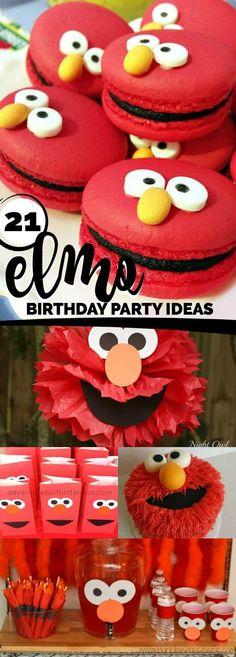 21 Fabulous Elmo Birthday Party Ideas via /spaceshipslb/