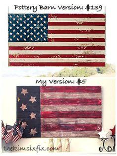 Potttery barn flag knock off for only $5